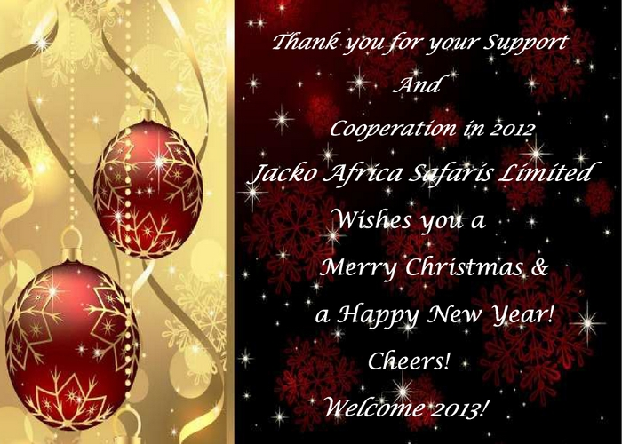 Merry Christmas and Happy New Year from Jacko Africa Safaris