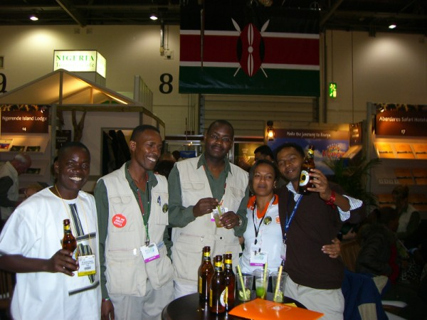 Jackson with friends at the Kenya Stand